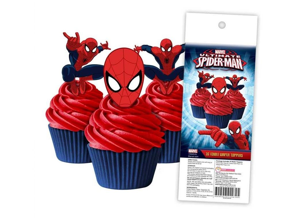 Edible Wafer Cupcake Toppers - Spiderman