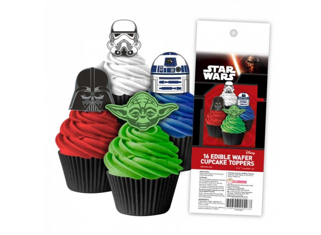 Edible Wafer Cupcake Toppers - Star Wars
