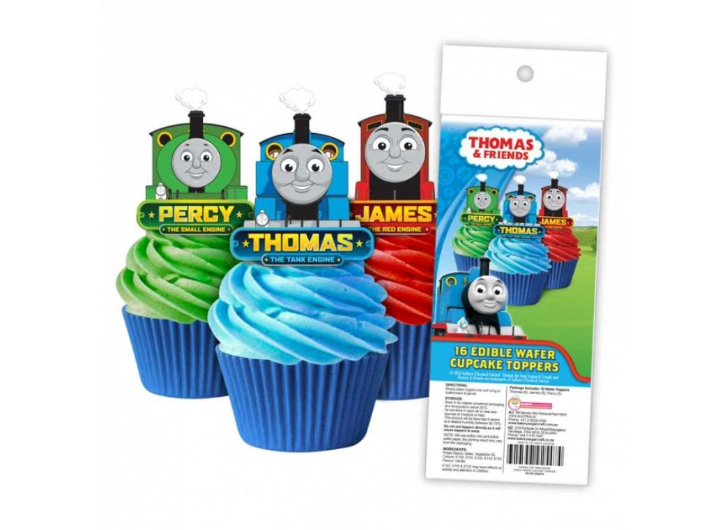Edible Wafer Cupcake Toppers - Thomas