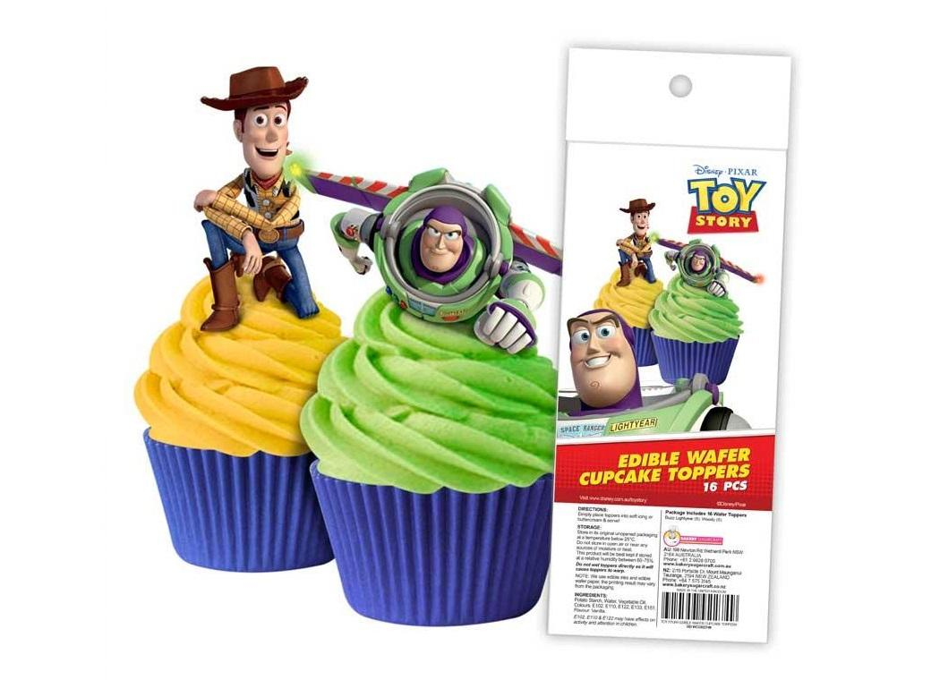 Edible Wafer Cupcake Toppers - Toy Story