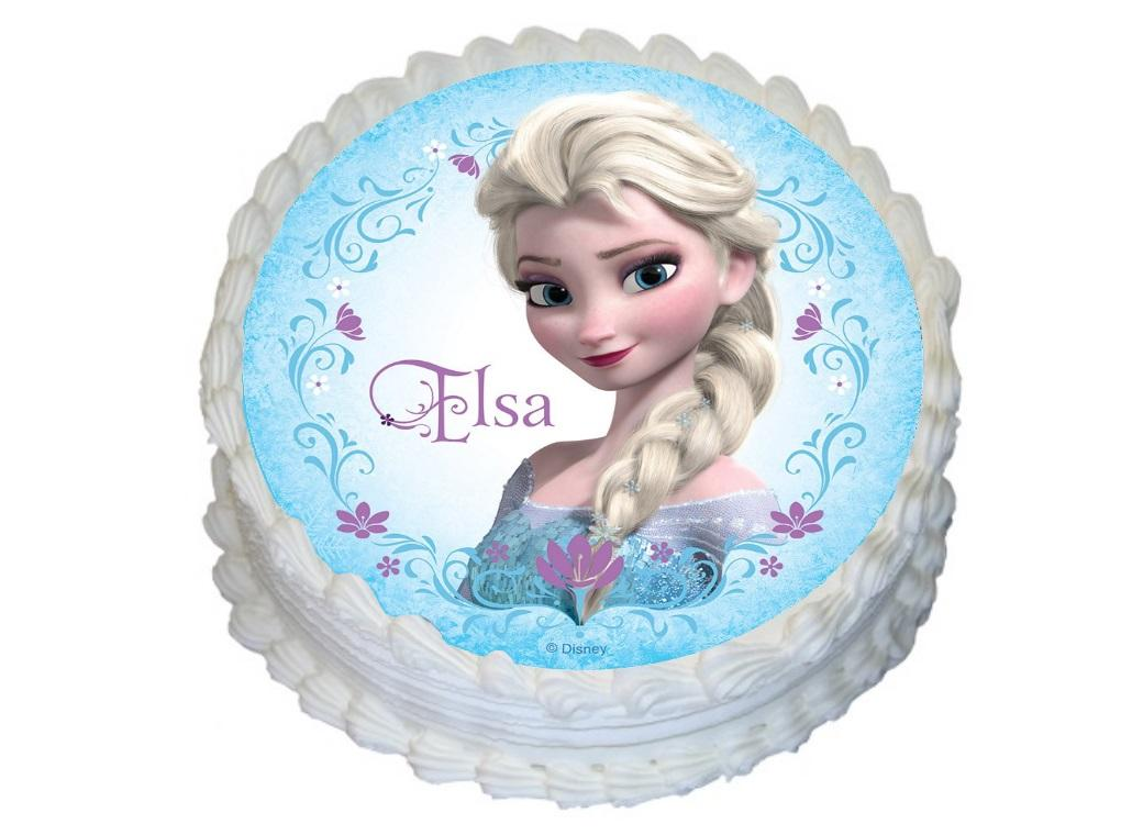 Edible Icing Image - Elsa Round