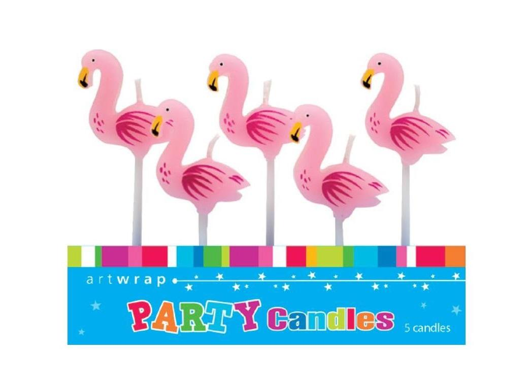 Party Candles - Flamingo