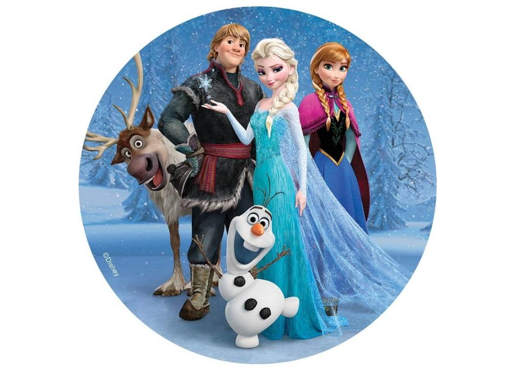 Edible Icing Image - Frozen Characters Round