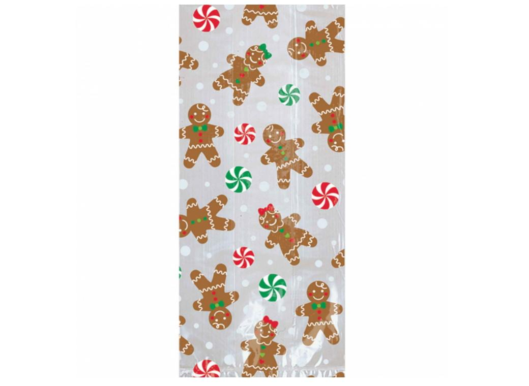 Gingerbread Large Cello Bags 20pk