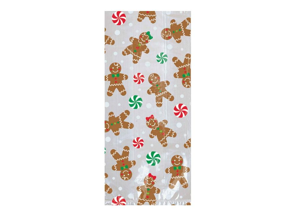 Gingerbread Cello Bags 20pk