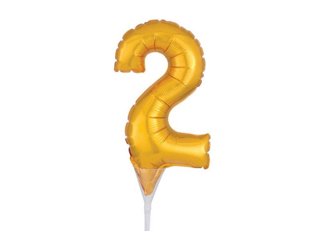 Gold Balloon Cake Topper No 2