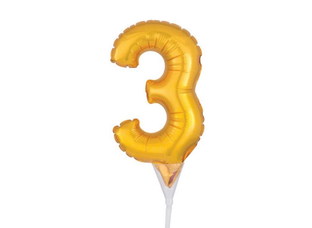 Gold Balloon Cake Topper No 3