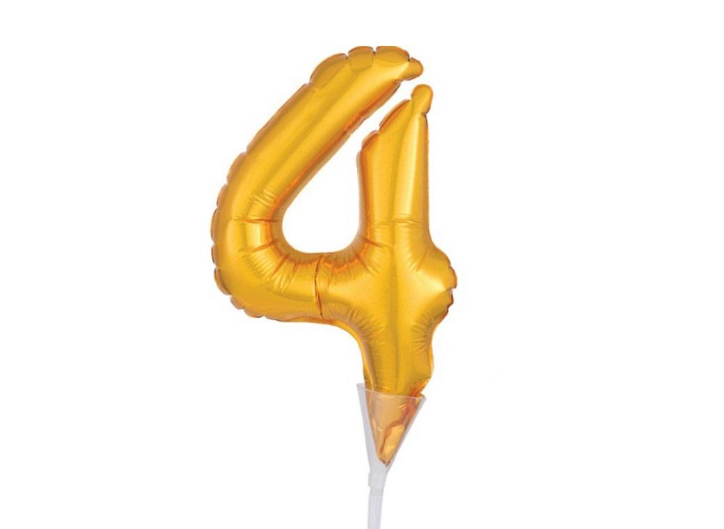 Gold Balloon Cake Topper No 4