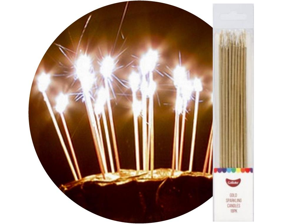 Sparkling Candles 18pk Gold