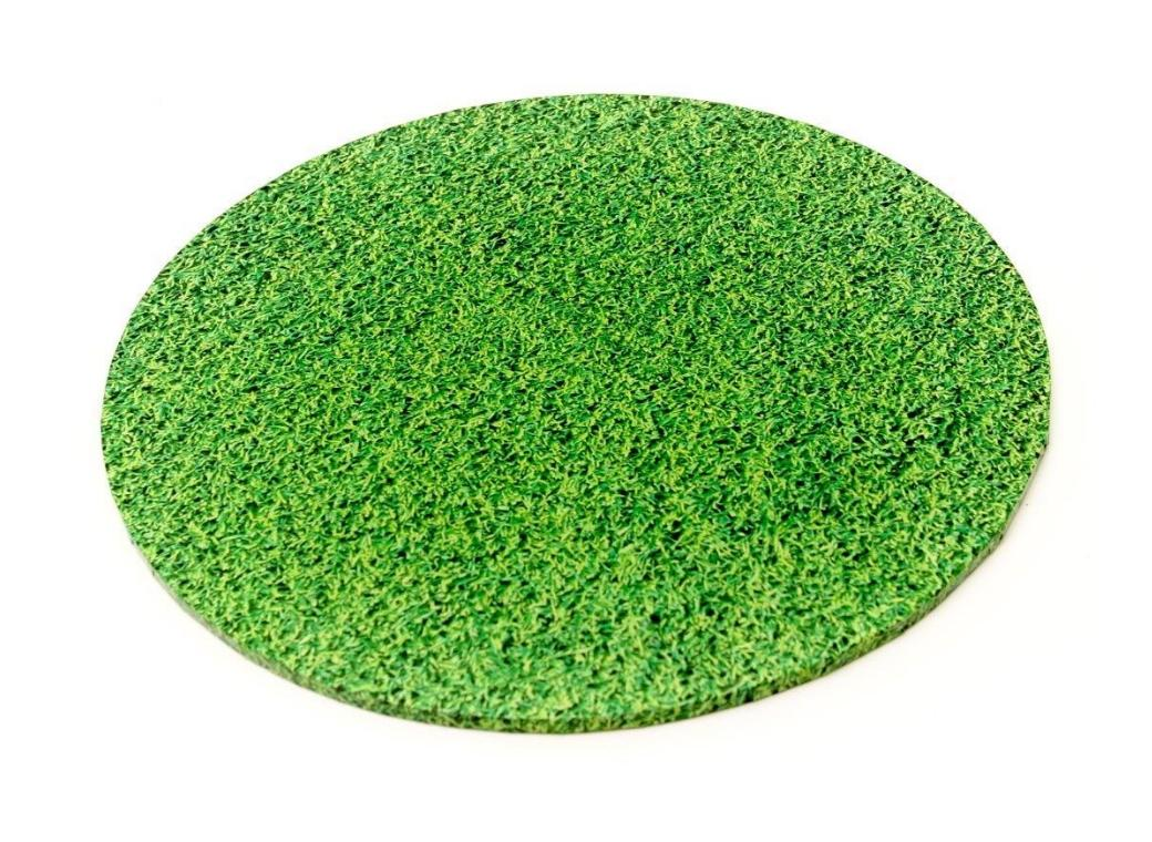 Grass Masonite Cake Board Round - 12""