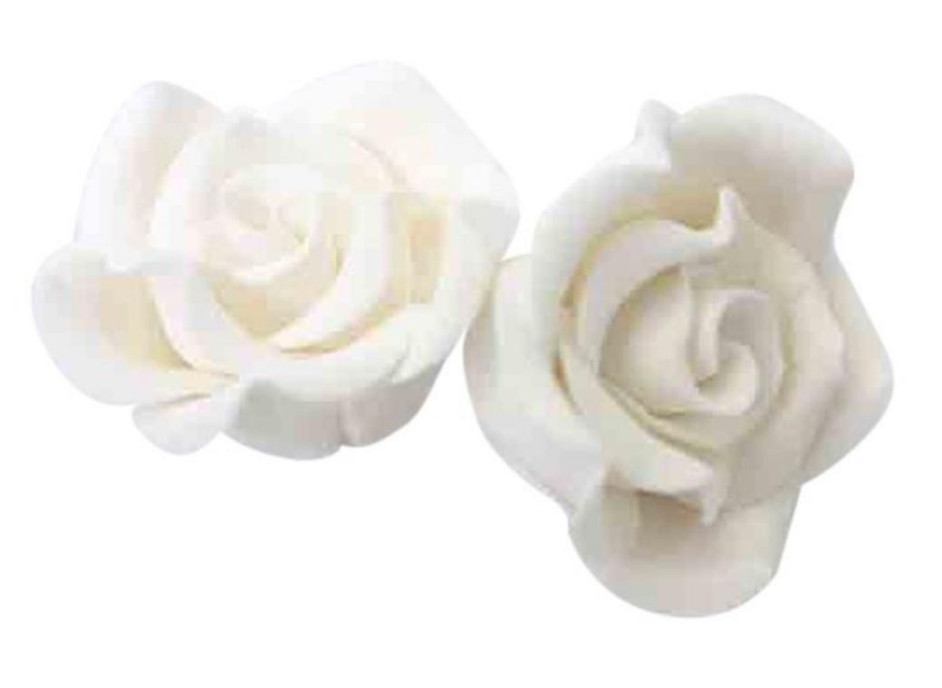Gumpaste Classic Rose Large - White
