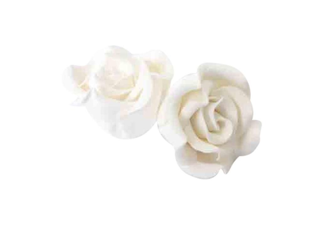 Gumpaste Classic Rose Small - White