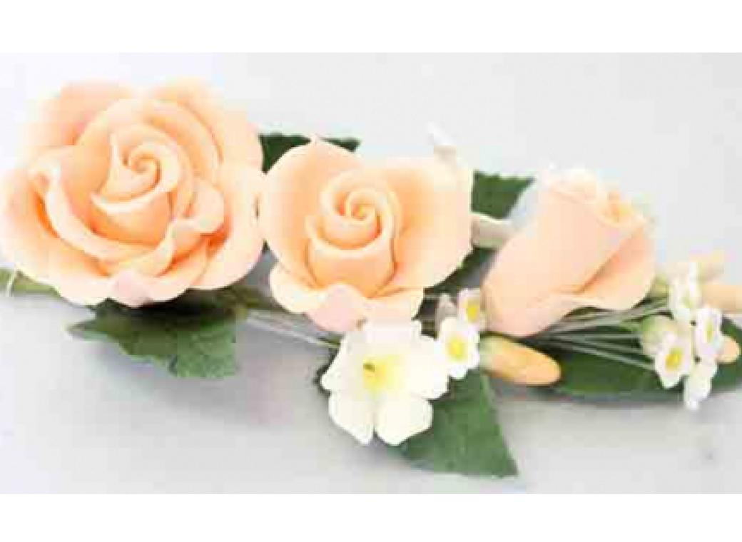 Gumpaste Rose Spray - Apricot