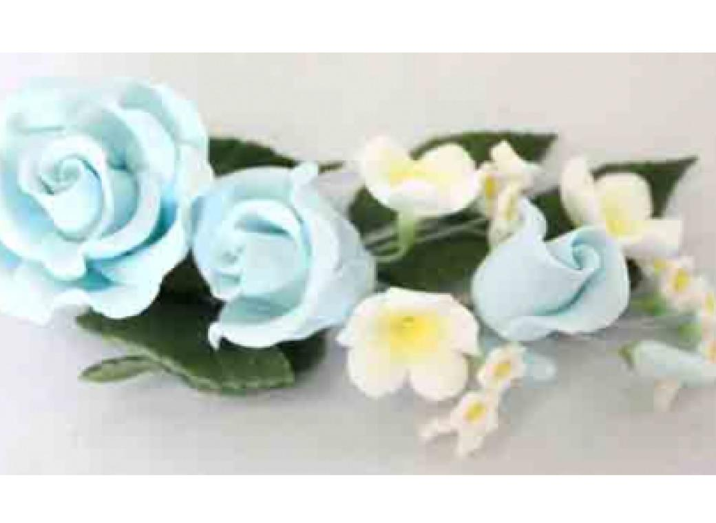 Gumpaste Rose Spray - Blue