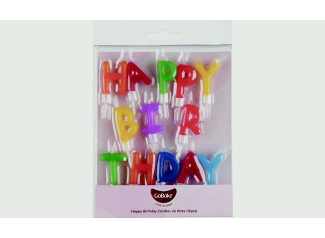 GoBake Happy Birthday Candles