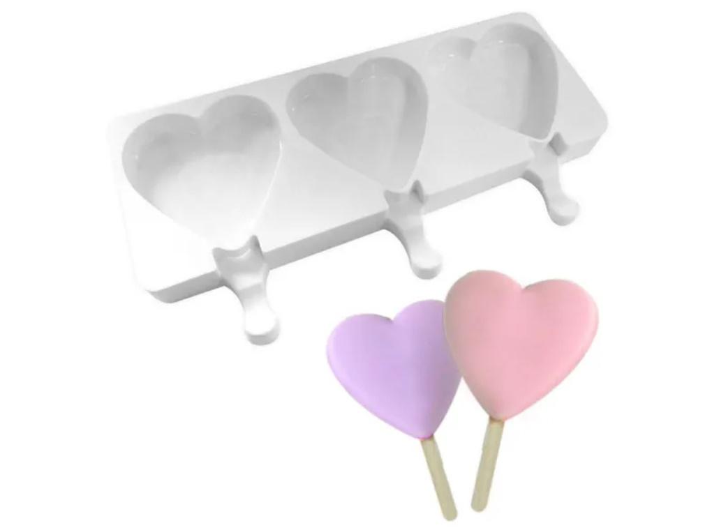 Heart Popsicle Silicone Mould