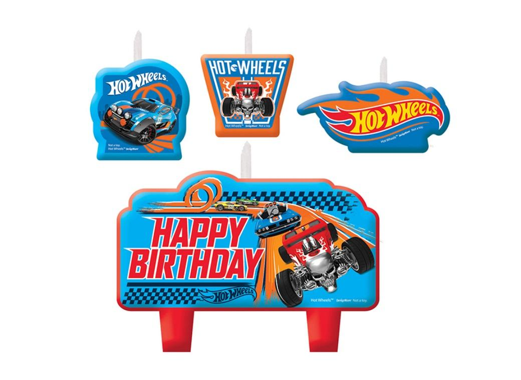 Hot Wheels Moulded Candle Set