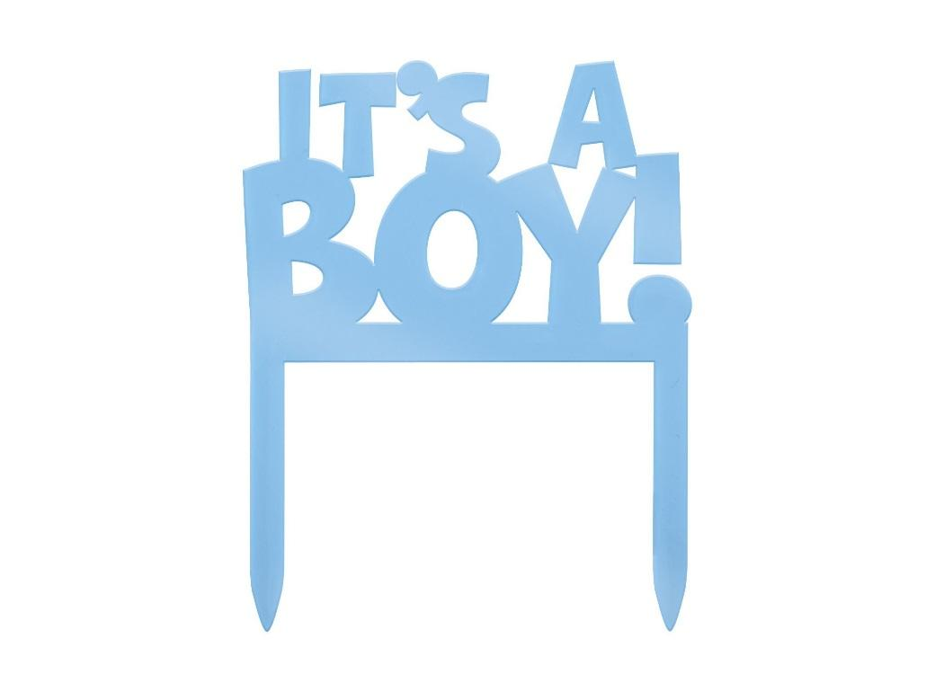 It's A Boy Cake Topper