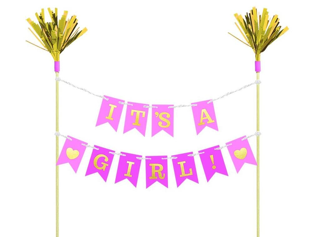 It's A Girl Cake Bunting