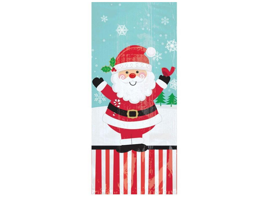 Jolly Santa Large Cello Treat Bags 20pk