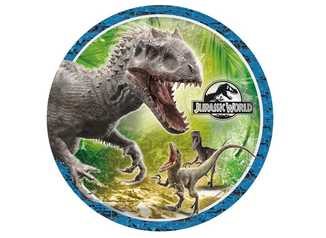 Edible Icing Image - Jurassic World Round