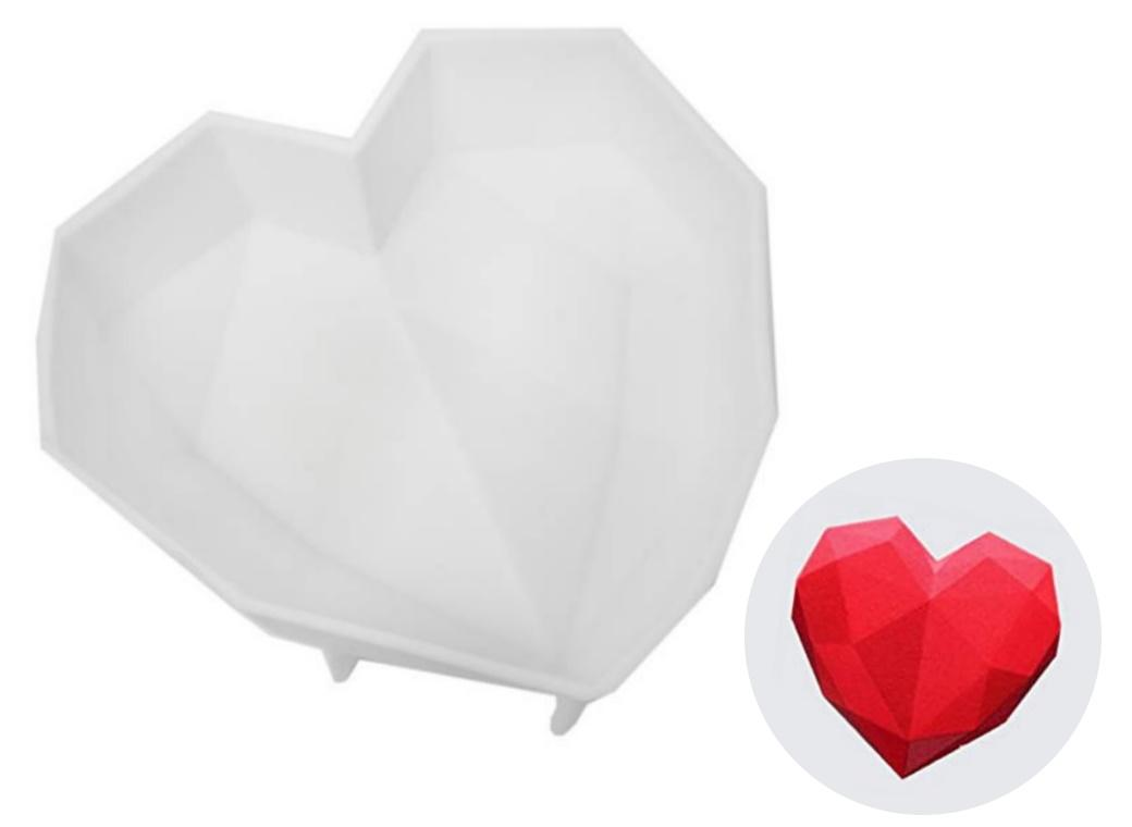 Large Geo Heart Silicone Mould