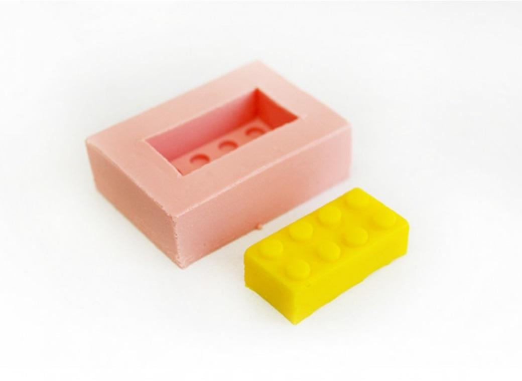 Single Lego Brick Silicone Mould