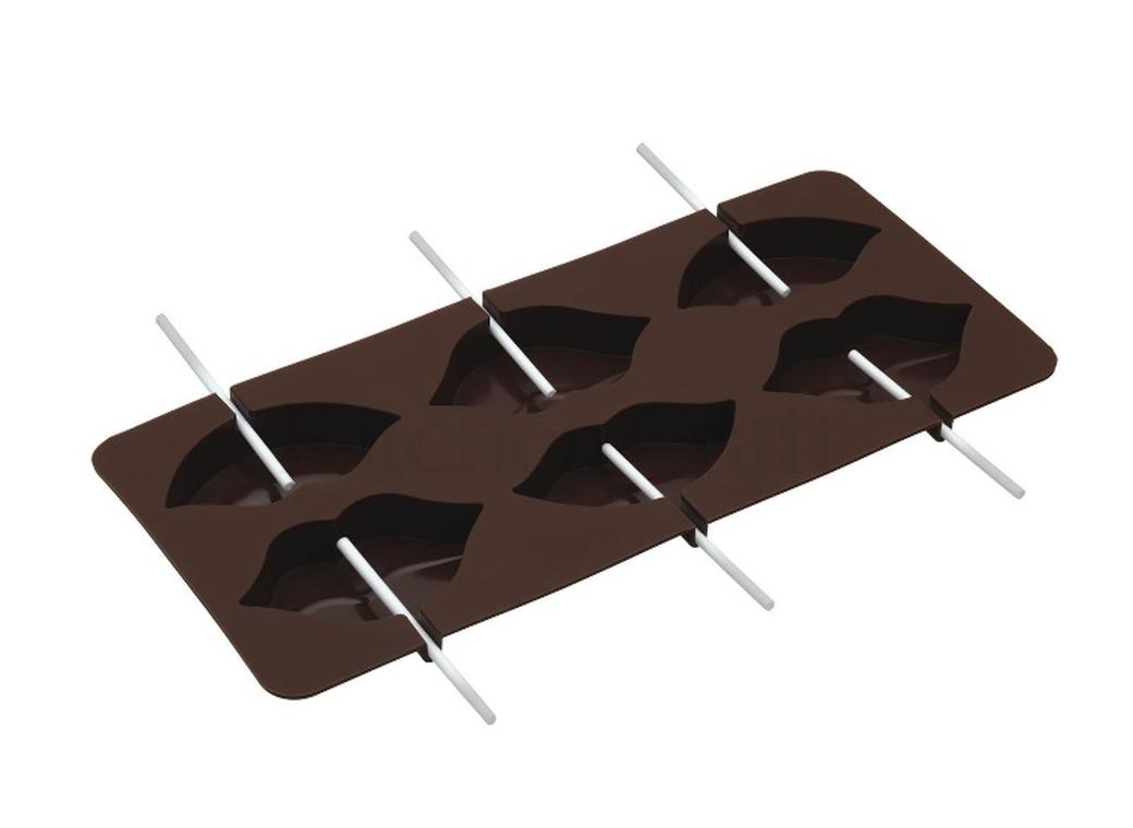 Chocolate Lolly Mould - Lips Design