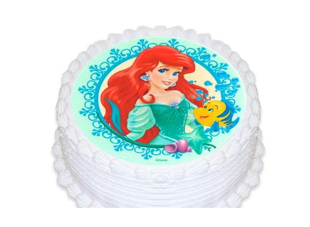 Edible Icing Image - Little Mermaid Round