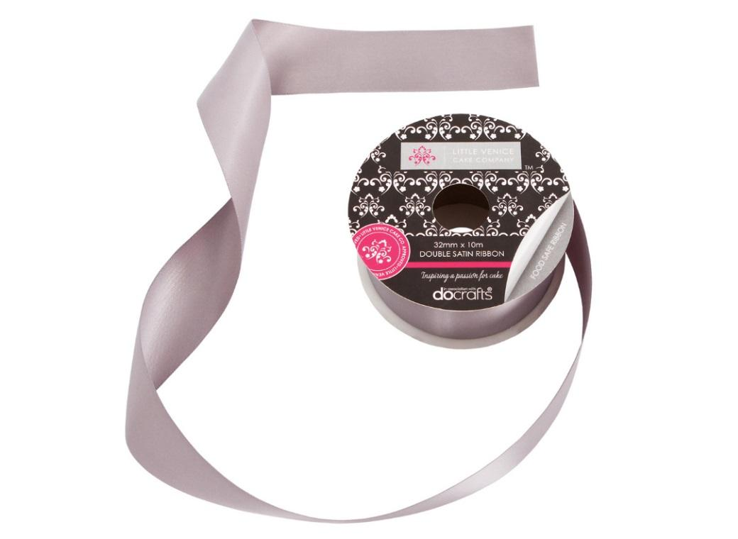 Double Satin Cake Ribbon Silver - 32mm