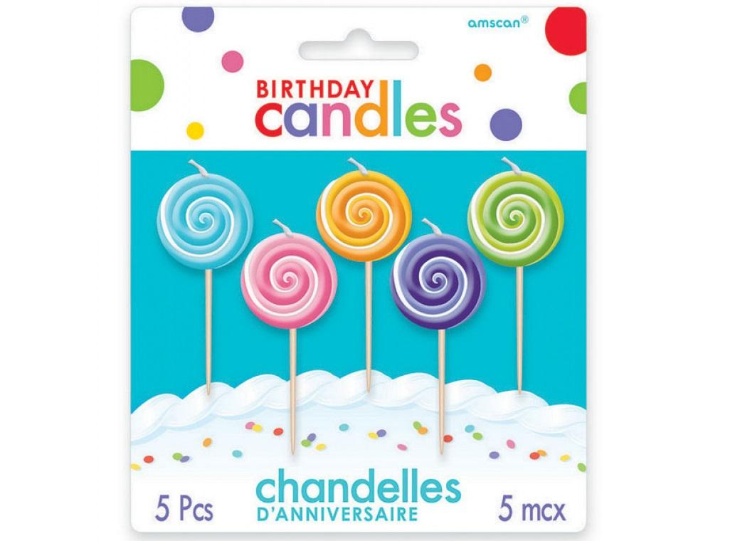 Lollipop Party Candles