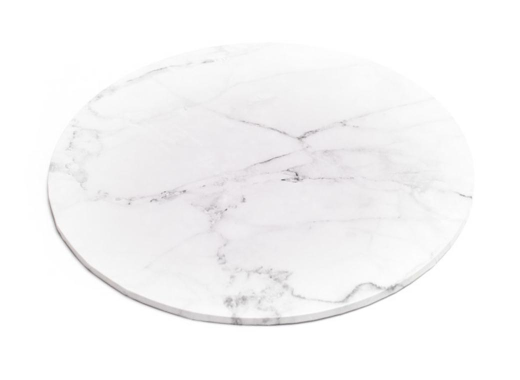 Marble Masonite Cake Board Round - 12""