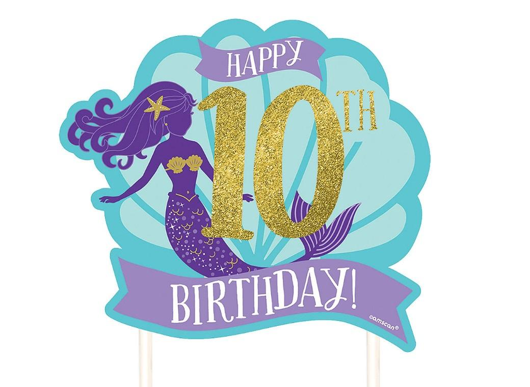 Mermaid Wishes Customisable Cake Topper