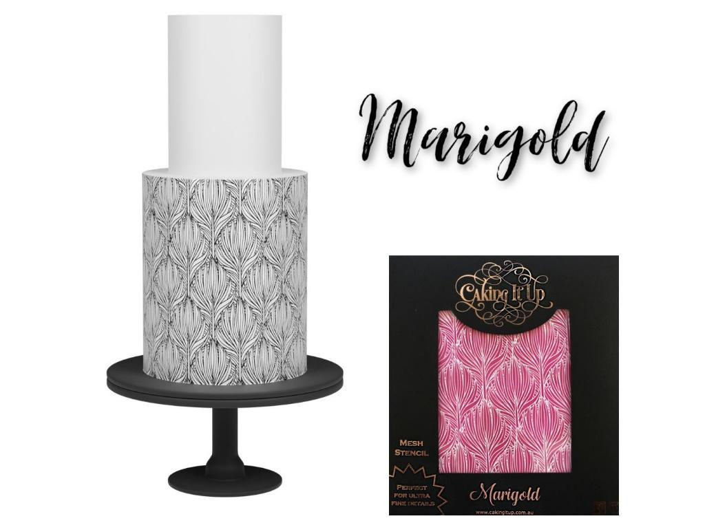 Caking It Up - Mesh Stencil Marigold