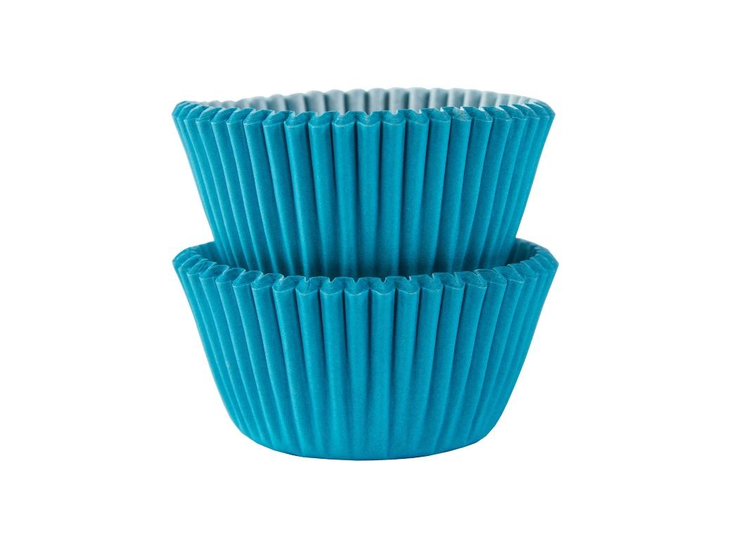 Mini Cupcake Cases 100pk - Caribbean Blue