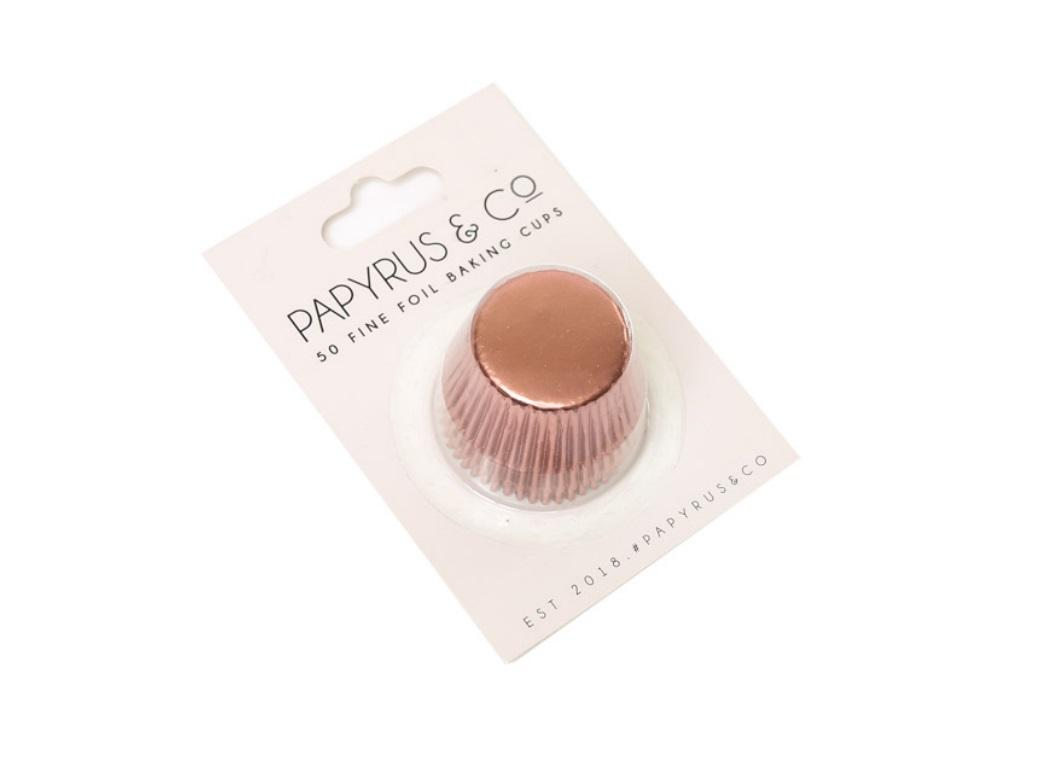 Mini Rose Gold Foil Cupcake Cases 50pk