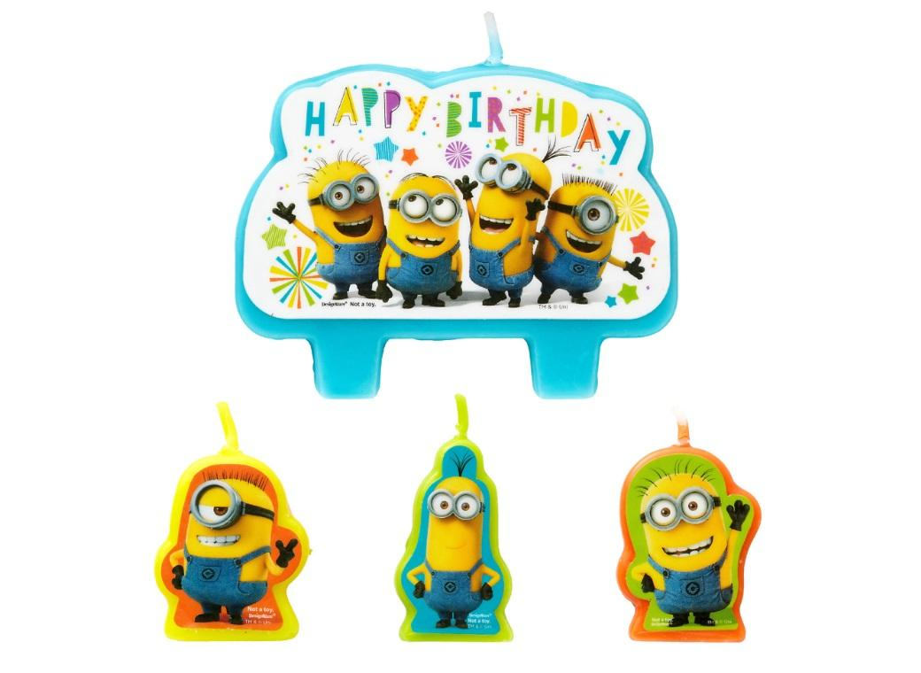 Minions Moulded Candles Set