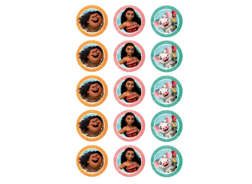 Edible Icing Cupcake Images - Moana