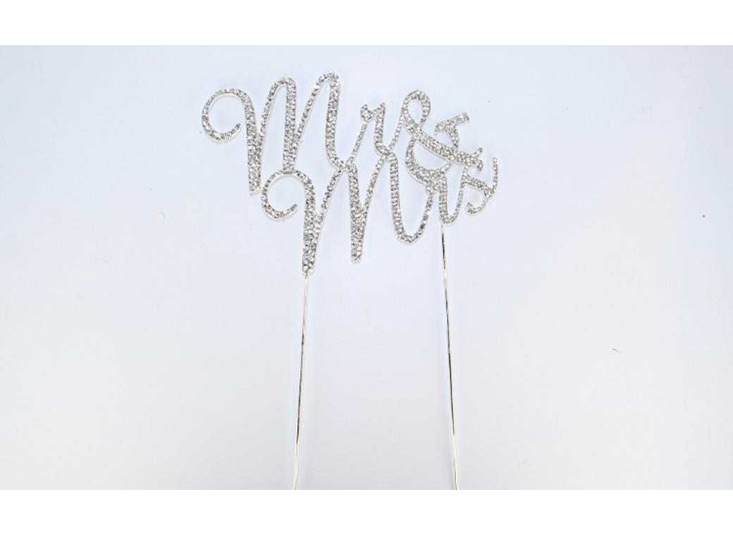 Diamante Topper - Mr & Mrs