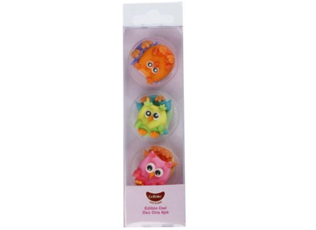 GoBake Dec Ons Novelty Owls - 6pk