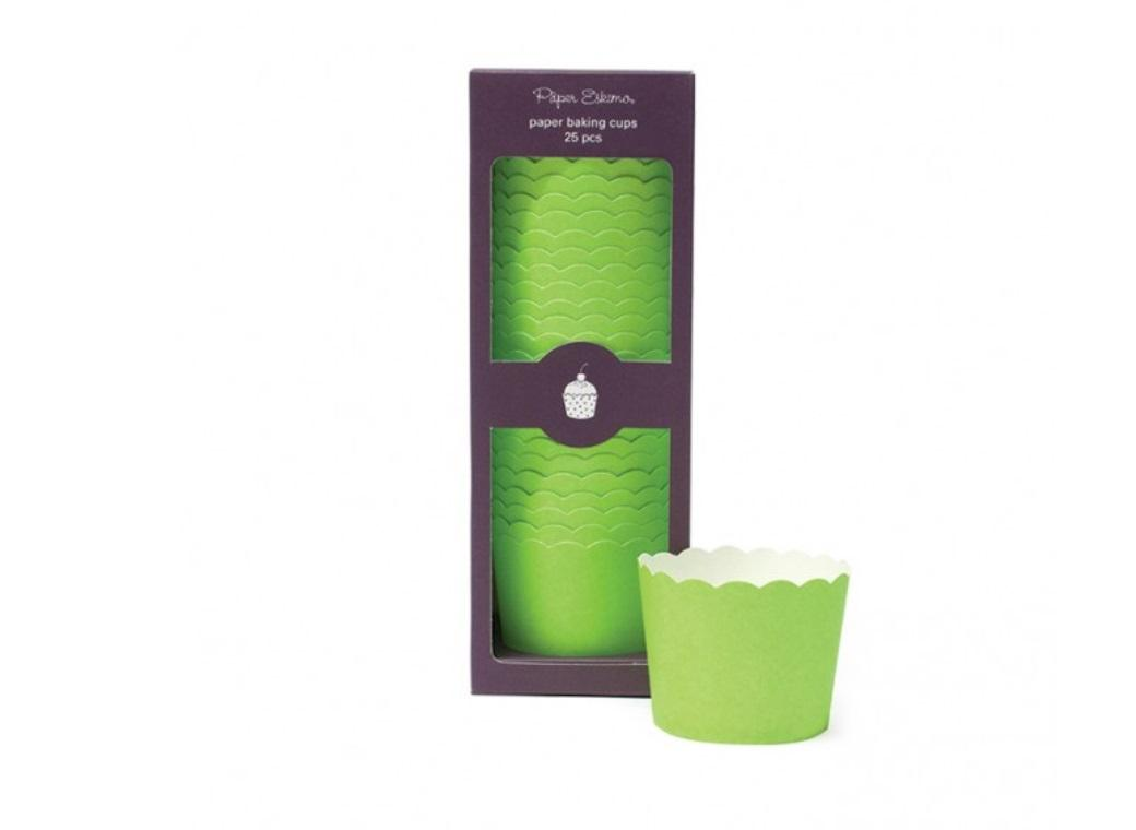 Paper Eskimo Baking Cups - Solid Green