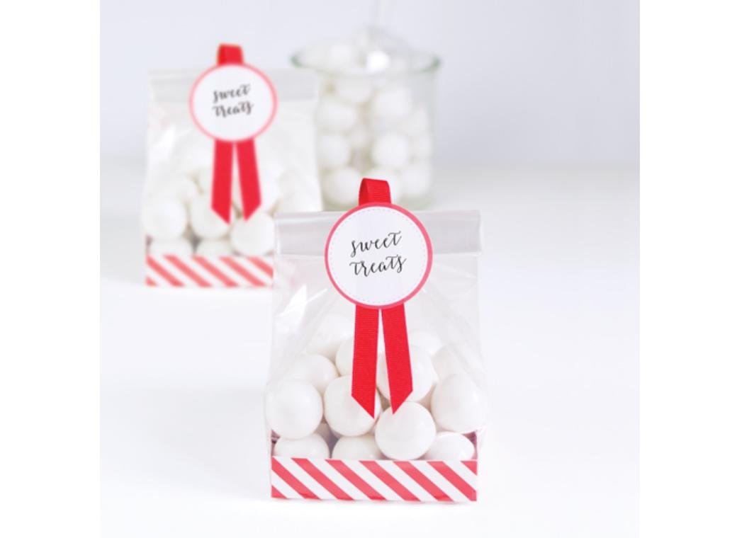 Paper Eskimo Treat Bags 12pk - Candy Cane