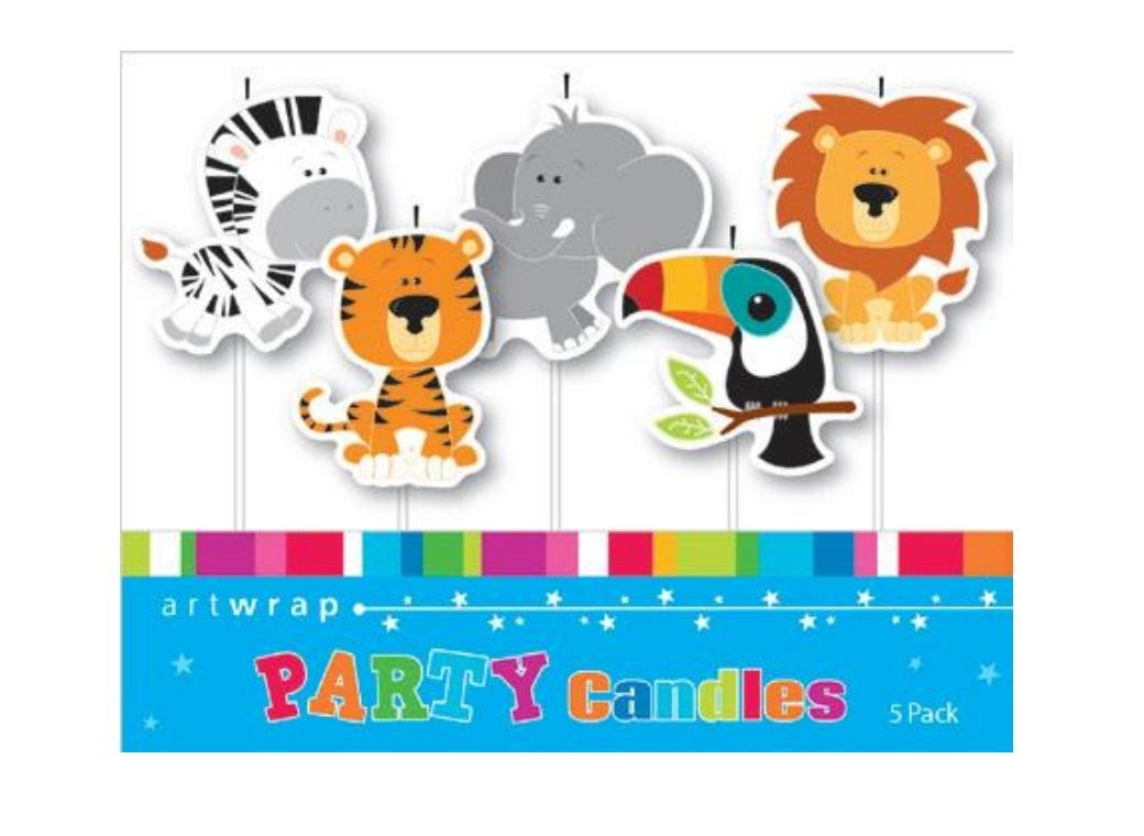 Party Candles - Jungle Animals