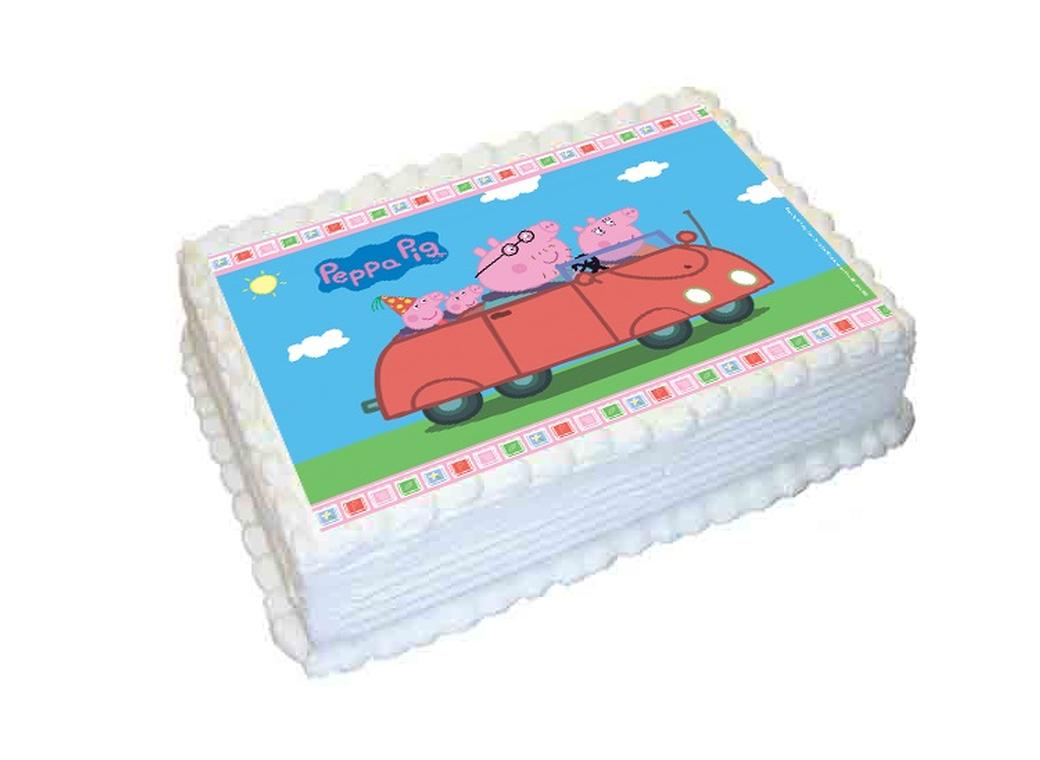 Cake Edible Images Nz : Edible Icing Image - Peppa Pig A4
