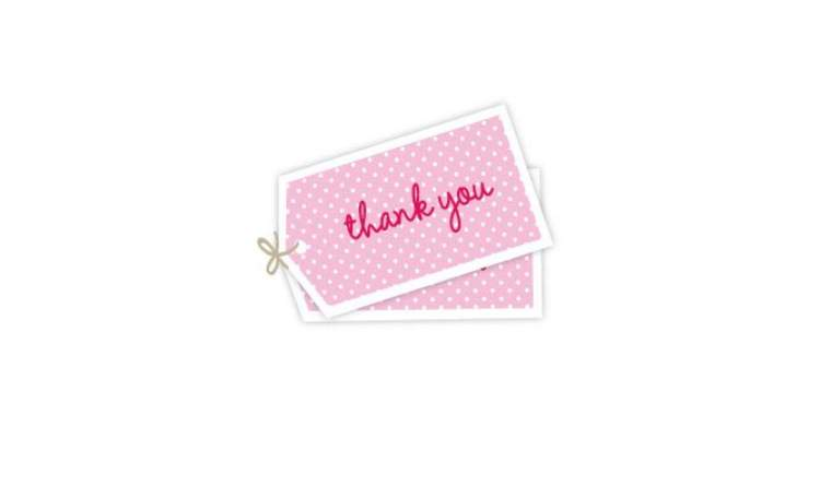 Sambellina Gift Tags – Pink Thank You