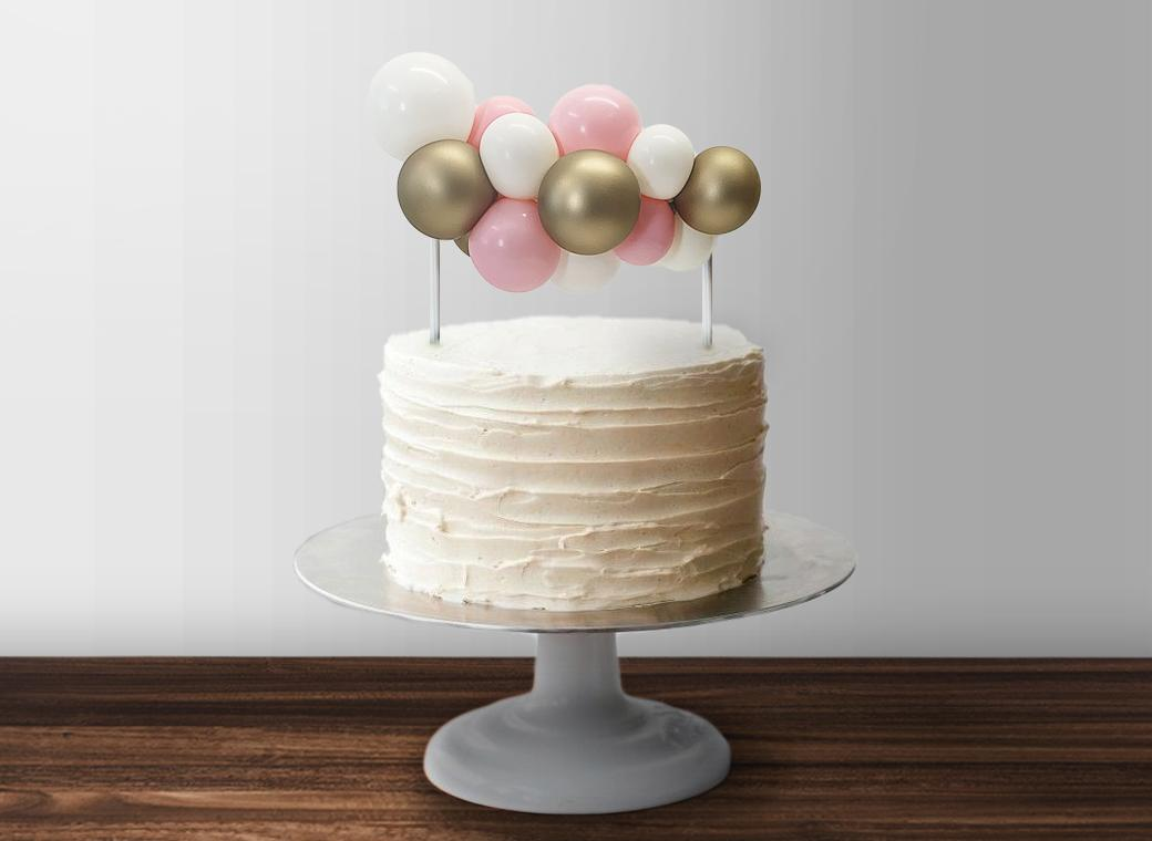 Balloon Garland Cake Topper - Pink & Gold