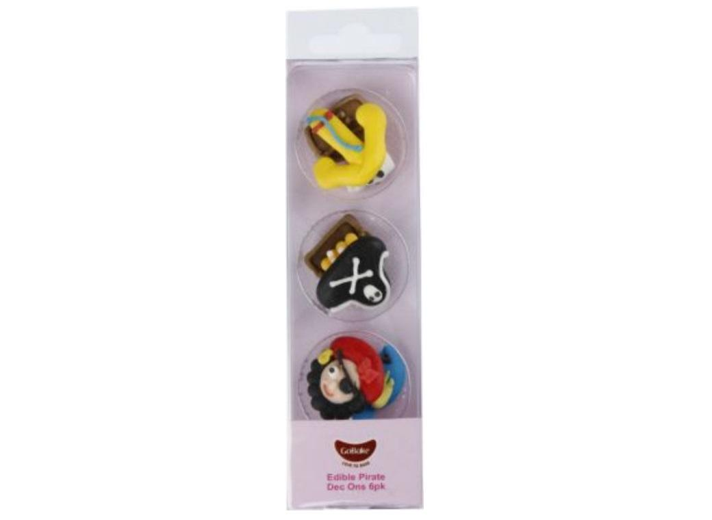 GoBake Dec Ons Novelty Pirates - 6pk