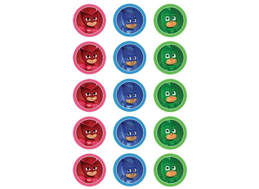 Edible Icing Cupcake Images - PJ Masks