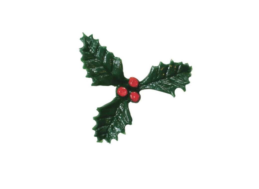 Holly Cake Decoration 38mm