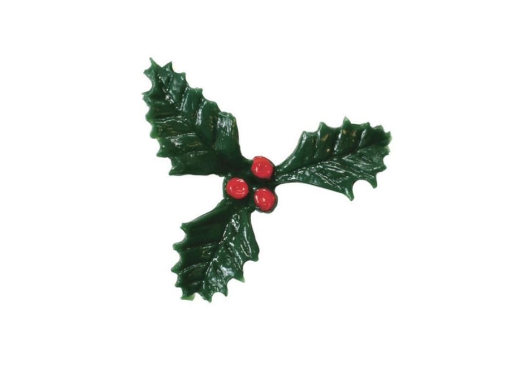 Holly Cake Decoration 50mm
